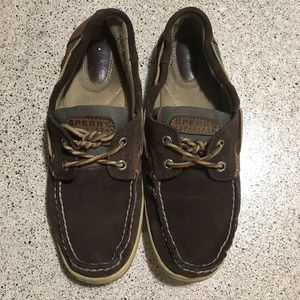 Dark brown Sperry Top-sider boat shoes